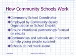 how community schools work