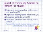 impact of community schools on families 11 studies