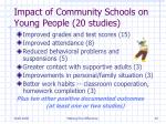 impact of community schools on young people 20 studies
