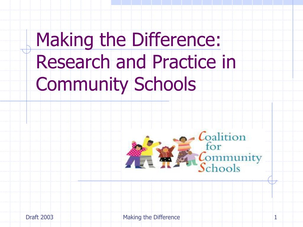 making the difference research and practice in community schools l.