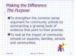 making the difference the purpose