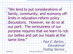 paul e barton educational testing service