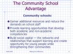 the community school advantage