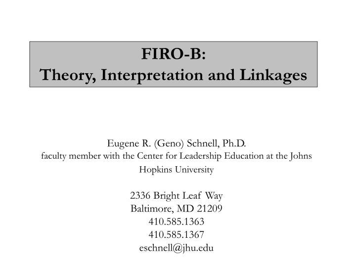 FIRO-B: