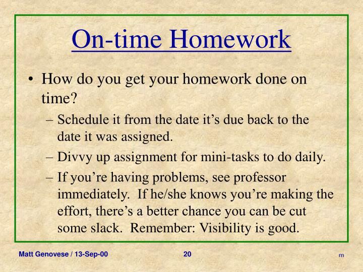 On-time Homework