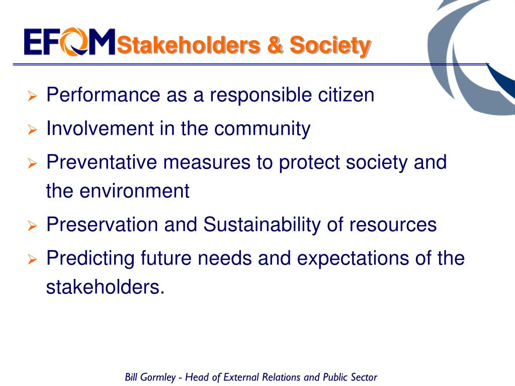 Stakeholders & Society