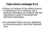 take home message 8 11