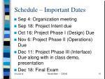 schedule important dates