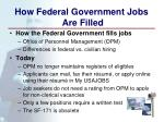 how federal government jobs are filled