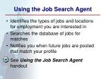 using the job search agent