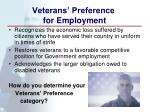 veterans preference for employment