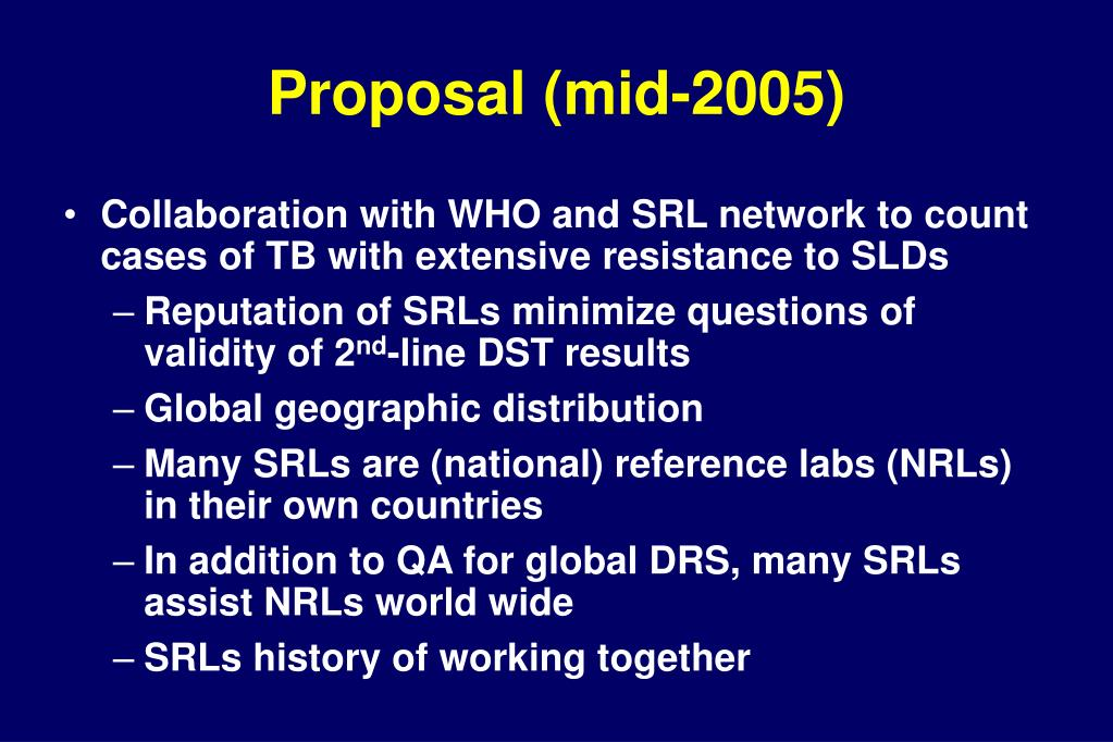 Proposal (mid-2005)