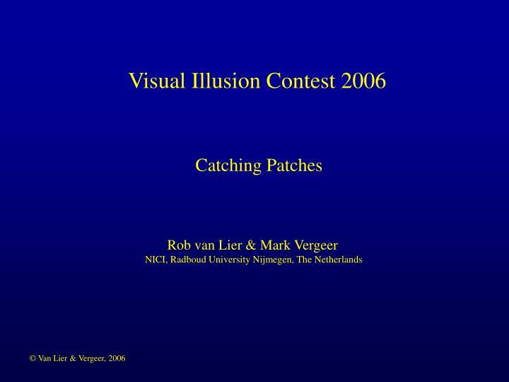 Visual Illusion Contest 2006