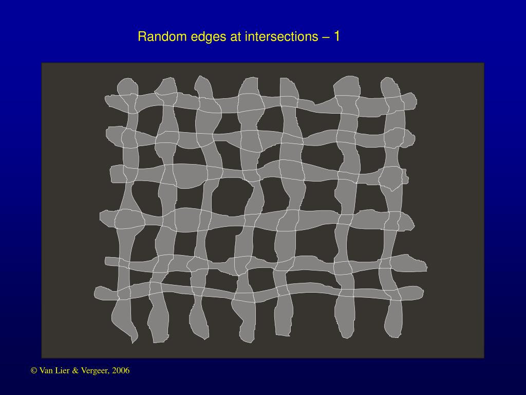 Random edges at intersections –
