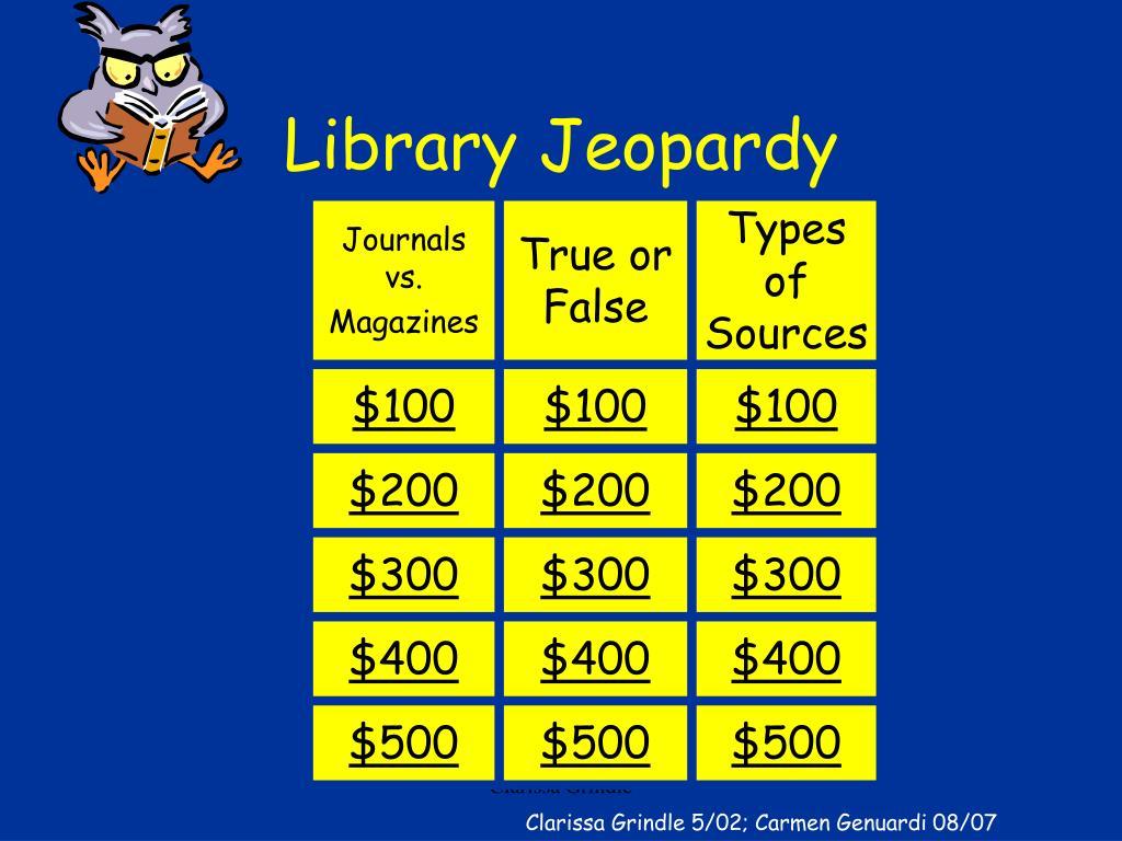 Library Jeopardy