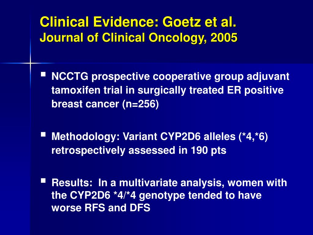 Clinical Evidence: Goetz et al.