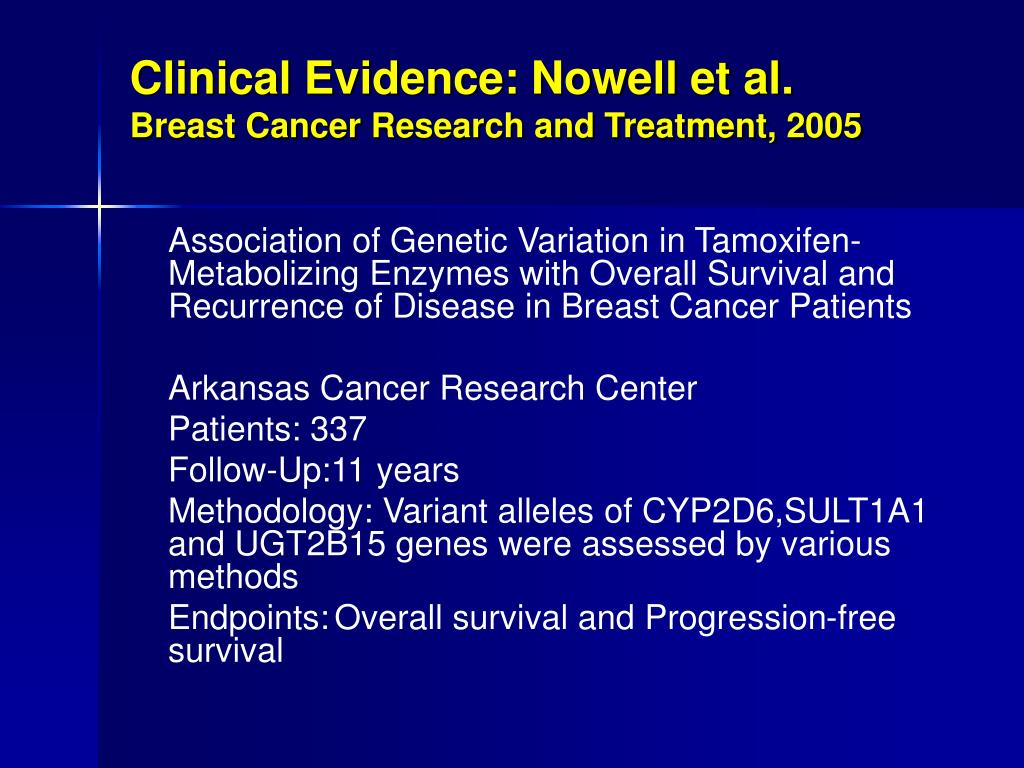 Clinical Evidence: Nowell et al.