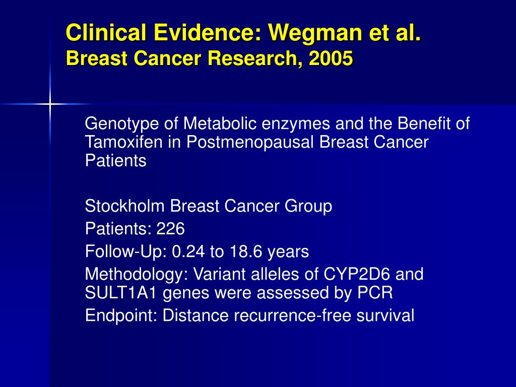 Clinical Evidence: Wegman et al.