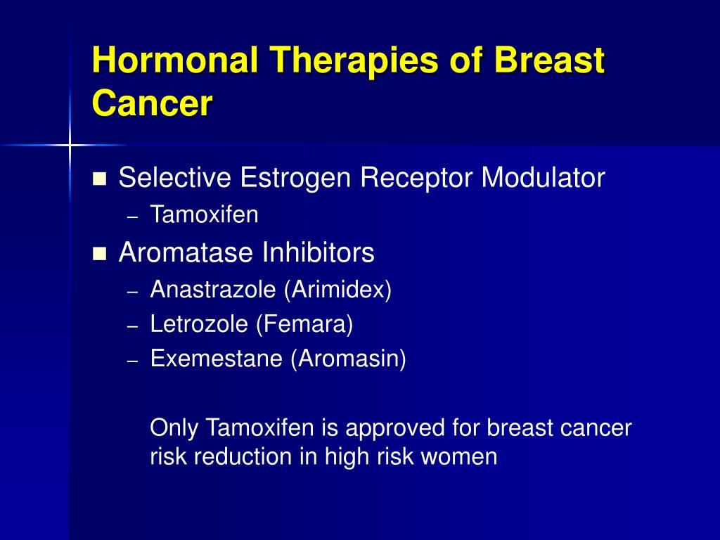 Hormonal Therapies of Breast Cancer