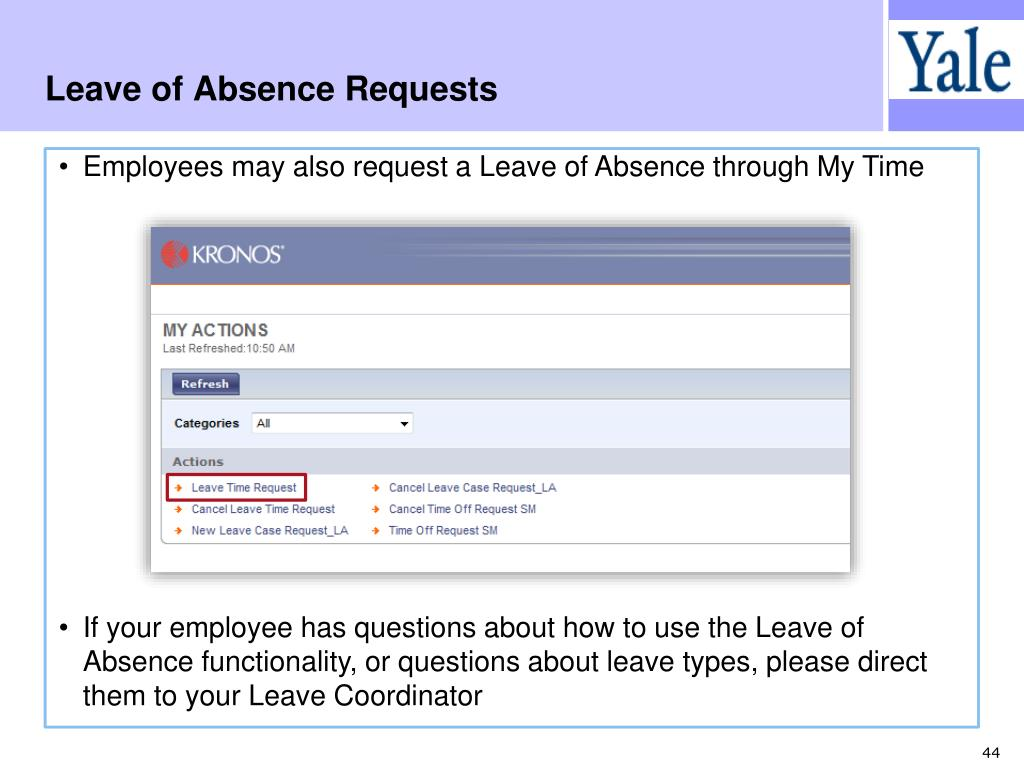 Leave of Absence Requests