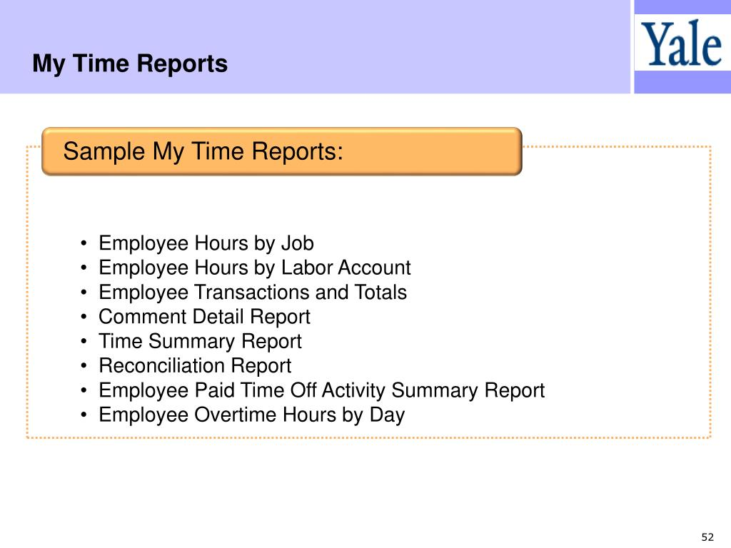 My Time Reports