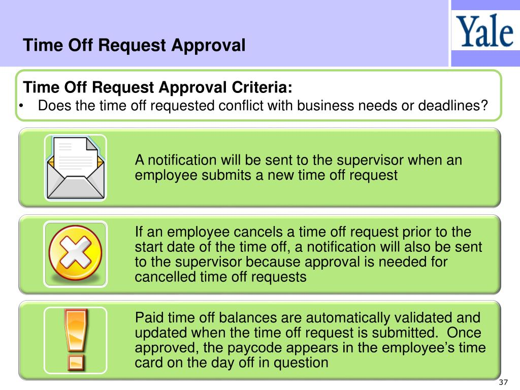 Time Off Request Approval