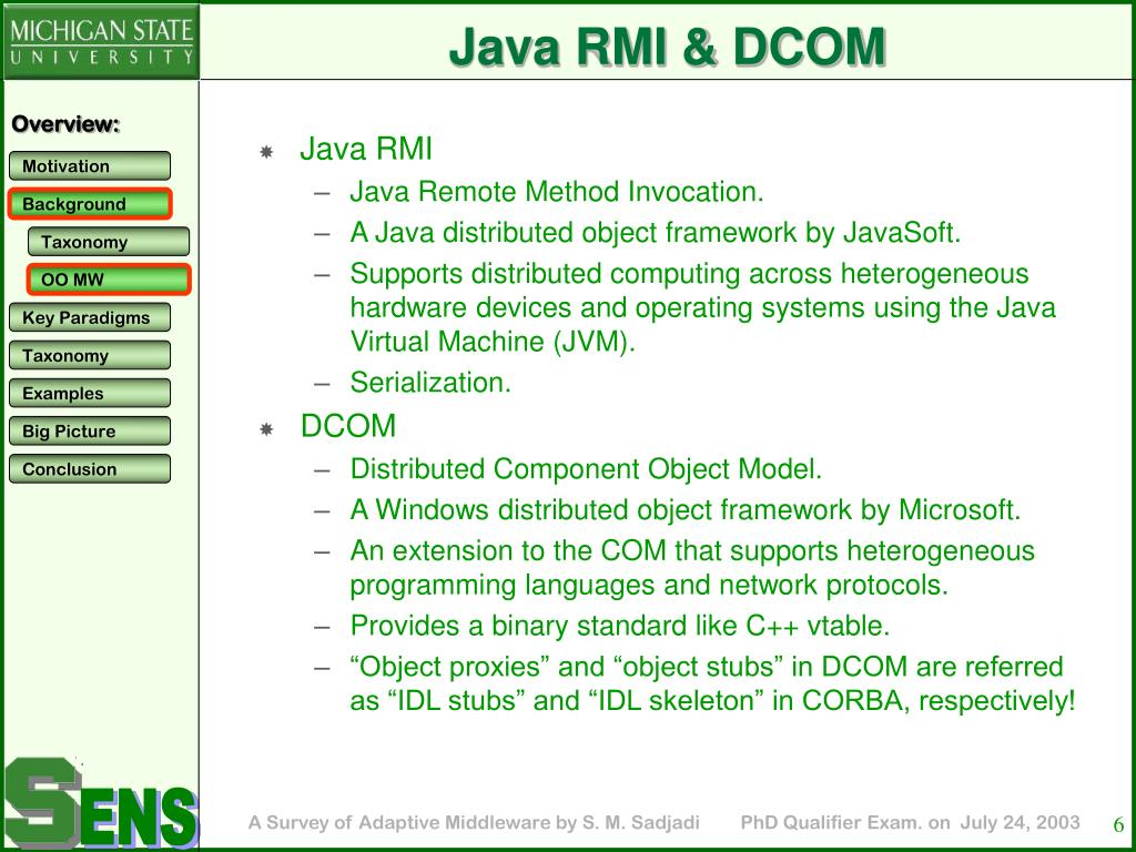 Java RMI & DCOM