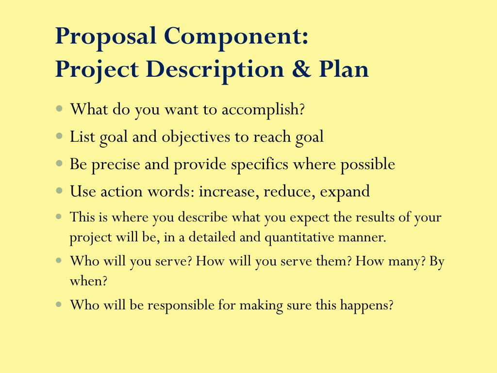 Proposal Component: