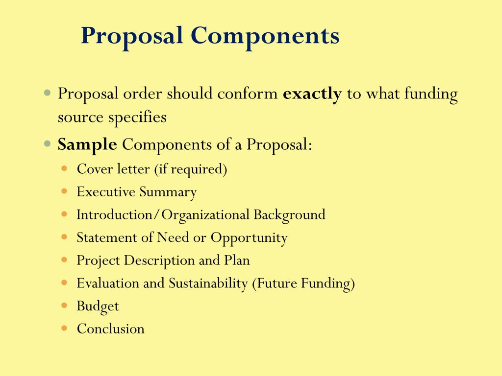 Proposal Components