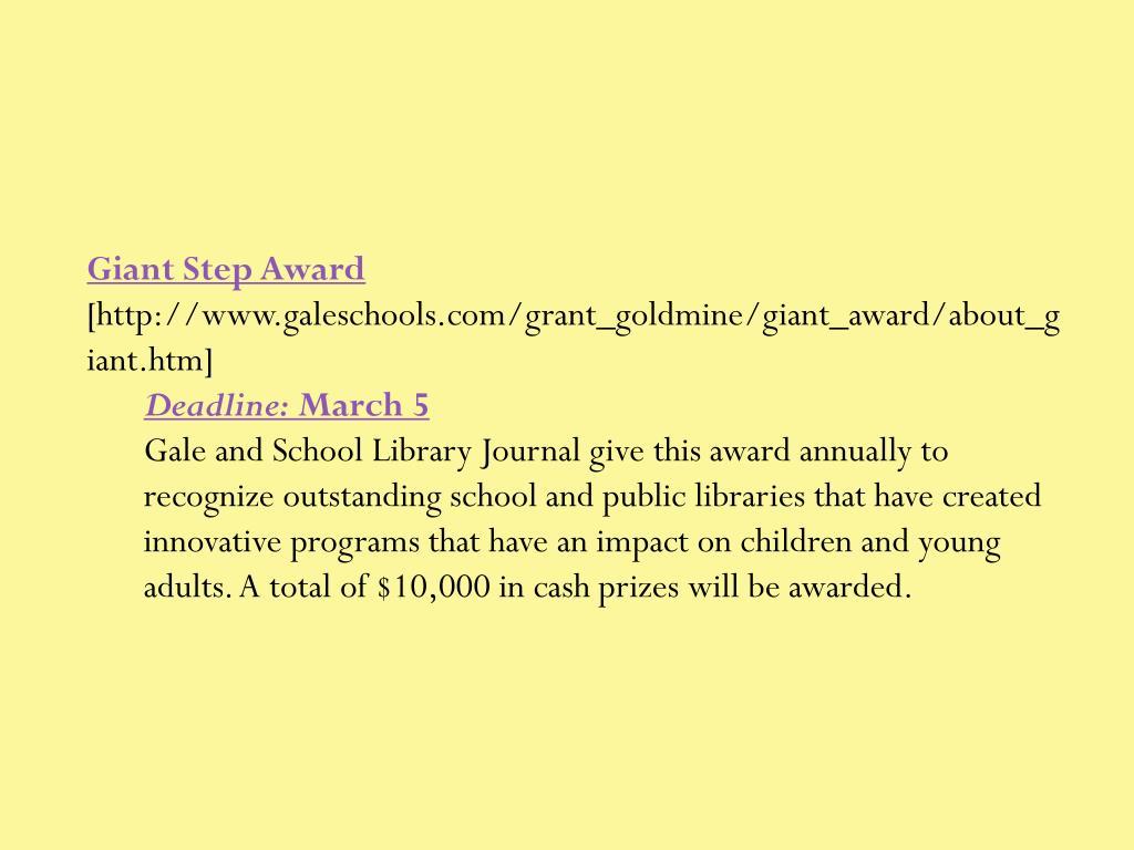 Giant Step Award