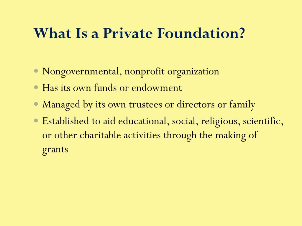 What Is a Private Foundation?