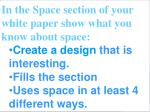 a design that shows space