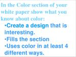 a design with color