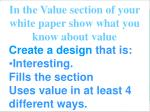 a design with value