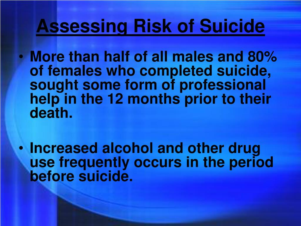 Assessing Risk of Suicide