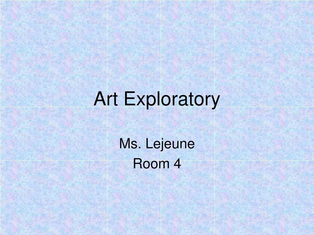 art exploratory l.