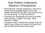 how children understand distance 3 perspectives