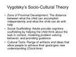 vygotsky s socio cultural theory