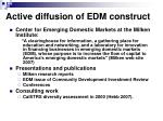 active diffusion of edm construct