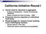 california initiative round i