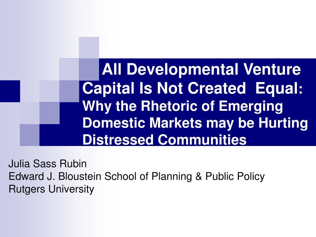 julia sass rubin edward j bloustein school of planning public policy rutgers university