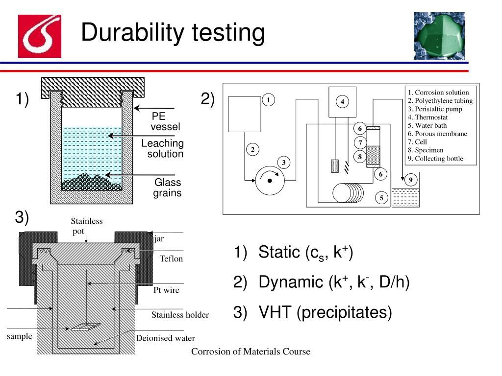 Durability testing