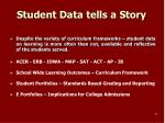 student data tells a story