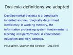 dyslexia definitions we adopted6