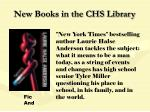 new books in the chs library103
