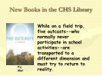 new books in the chs library20