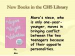 new books in the chs library22