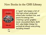 new books in the chs library23