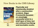 new books in the chs library28