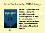 new books in the chs library30